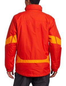 Men's Winter Jacket Autumn Orange back view