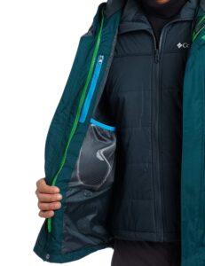 Columbia men's 3 in 1 jacket inside pockets